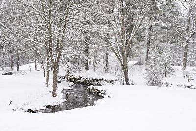 Sudbury Ma Winter Stream Print by Toby McGuire