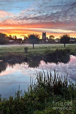 Sudbury Water Meadows At Dawn Print by Mark Sunderland