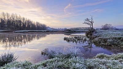 Sudbury Water Meadows Print by Ian Merton