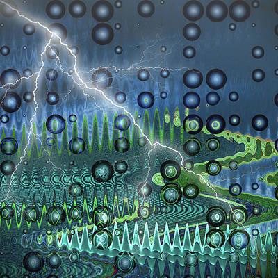 Rain Digital Art - Sudden Storm by Wendy J St Christopher