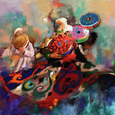 Unity Painting - Sufi Whirling 450 I by Mawra Tahreem