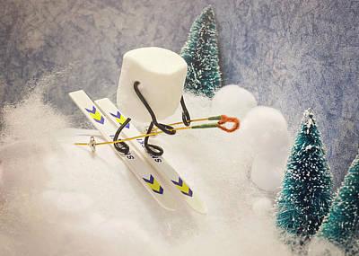 Sugar Hill Skier Print by Heather Applegate