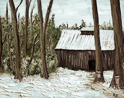 Quebec Painting - Sugar Shack by Reb Frost