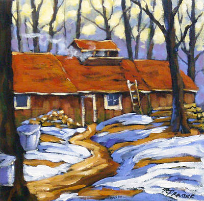 Maple Syrup Painting - Sugar Time by Richard T Pranke
