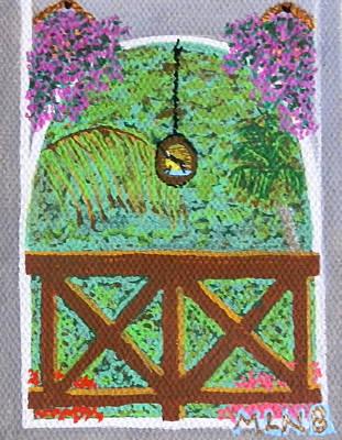 Sugarbird Feeding Print by Margaret Brooks