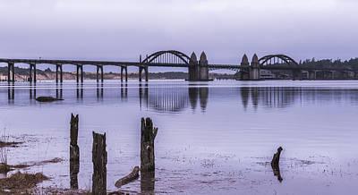 Suislaw River Bridge Print by Loree Johnson