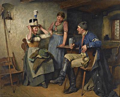 Hugo Kauffmann Painting - Suits You by Hugo Kauffmann