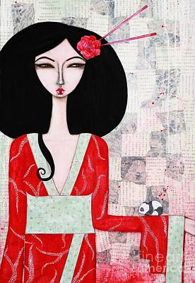 Japanese Painting - Suki by Natalie Briney