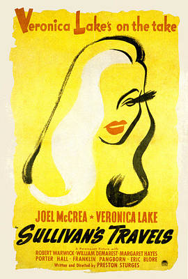 Sullivans Travels, Veronica Lake Print by Everett