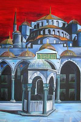 Sultan Ahmed Mosque Istanbul Print by Tracey Harrington-Simpson