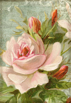 Summer At Cape May - Porch Roses Print by Audrey Jeanne Roberts