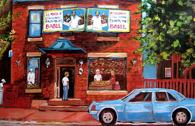 Montreal Restaurants Painting - Summer At Fairmount by Carole Spandau