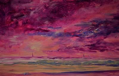 Painting - Summer Beach Morning by Julianne Felton