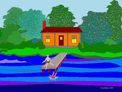 Summer Cabin Print by Fred Jinkins