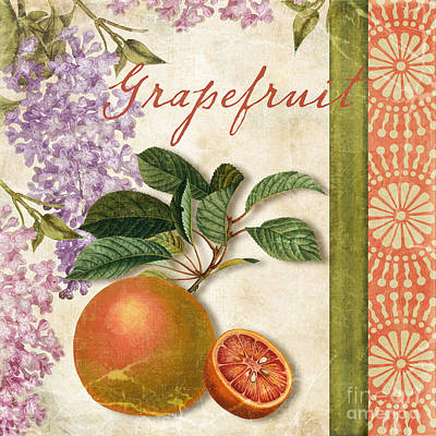 Grapefruit Painting - Summer Citrus Grapefruit by Mindy Sommers