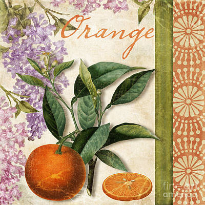 Lemon Painting - Summer Citrus Orange by Mindy Sommers