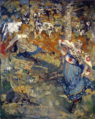 Edward Atkinson Hornel Painting - Summer by Edward Atkinson Hornel