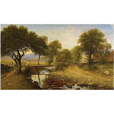 A Summer Evening Painting - Summer Evening At Penlester by Waller Hugh
