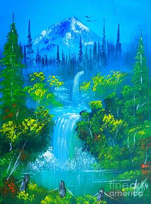 Landscape Painting - Summer Falls by Collin A Clarke