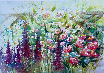 Summer Flowers  Print by Lena Thynell