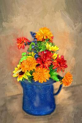 Summer Flowers Original by Mary Timman