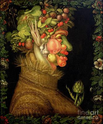 Peas Painting - Summer by Giuseppe Arcimboldo