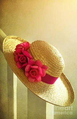 Flower Still Life Mixed Media - Summer Hat by Svetlana Sewell