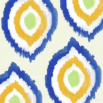 Art Tiles Painting - Summer Ikat- Art By Linda Woods by Linda Woods
