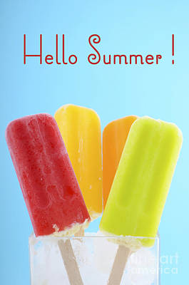 Summer Is Here Ice Creams Print by Milleflore Images
