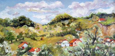 Summer Landscape Print by Vali Irina Ciobanu