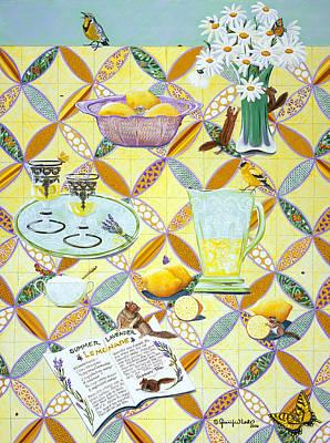 Meadowlark Painting - Summer Lavender Lemonade by Jennifer Lake