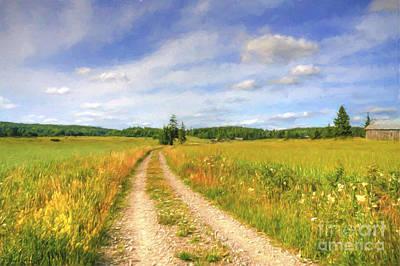 Road Painting - Summer Meadows by Veikko Suikkanen