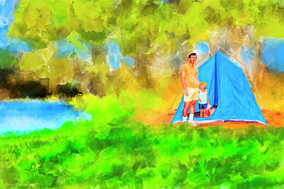 Summer Memories On Open Pond Print by Mark Tisdale