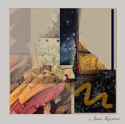 Abstract Handbag Drawing Mixed Media - Summer Night 1 by Janis Kirstein