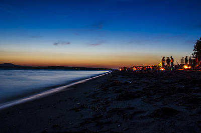 Summer Night At The Beach Print by Pelo Blanco Photo