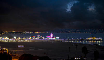 Rollercoaster Photograph - Summer Night On The Pier by Gene Parks