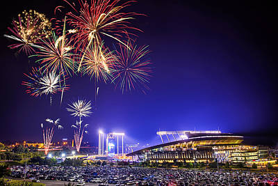 Major League Photograph - Summer Nights At The K by Thomas Zimmerman
