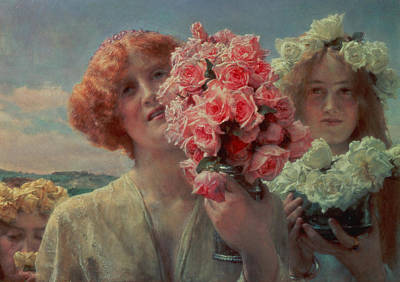 Summery Painting - Summer Offering by Sir Lawrence Alma Tadema