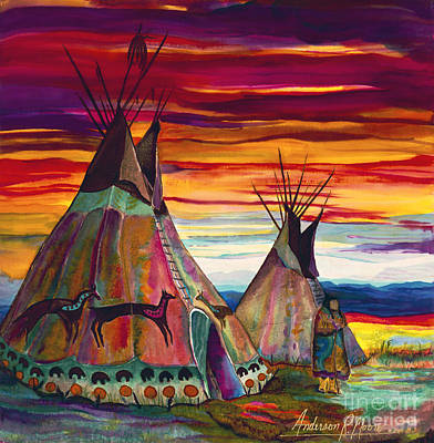 Silk Painting - Summer On The Plains by Anderson R Moore