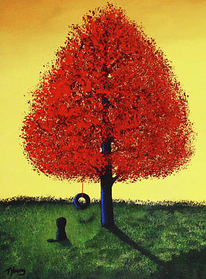 Swing Painting - Summer Play by Todd Young