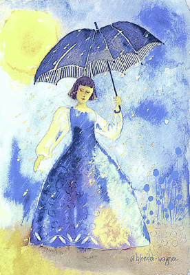 Umbrella Painting - Summer Rain by Arline Wagner