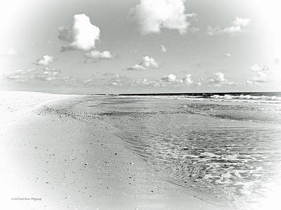 Photograph - Summer Seashore - Black And White by Mother Nature