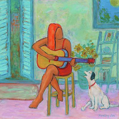 Painting - Summer Serenade II by Xueling Zou