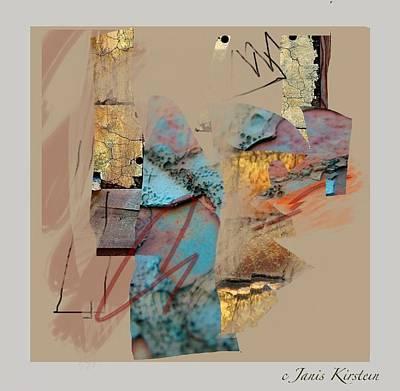 Abstract Handbag Drawing Mixed Media - Summer Slumber 1 by Janis Kirstein