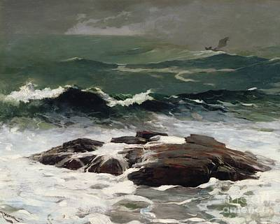 Crashing Painting - Summer Squall by Winslow Homer