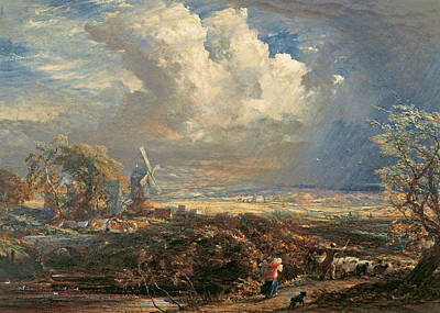 Storm Clouds Painting - Summer Storm Near Pulborough, Sussex by Samuel Palmer