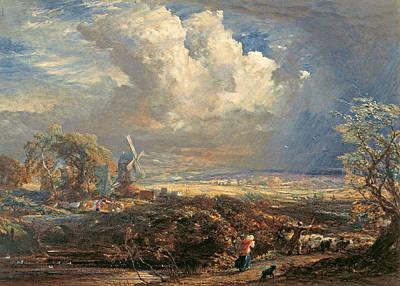 Samuel Palmer Drawing - Summer Storm Near Pulborough. Sussex by Samuel Palmer