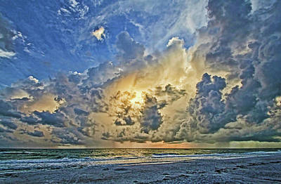 Seascape Photograph - Summer Storms In The Gulf by HH Photography of Florida