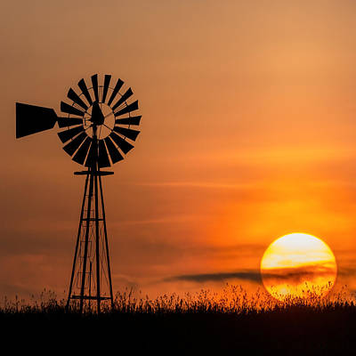 Windmill Photograph - Summer Sun Square by Bill Wakeley