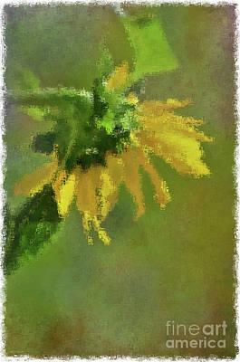 Summer Sunflower 1 Print by Debbie Portwood